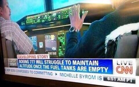 CNN reports airplanes need fuel to fly