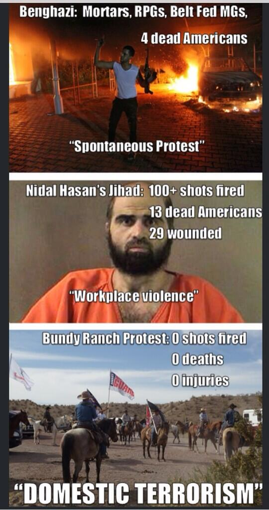 Benghazi, Ft. Hood, and the Bundy Ranch