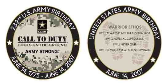 U.S. Army 232nd birthday coin