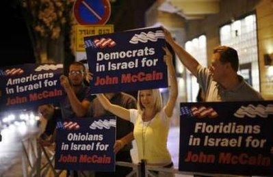 Dems in Israel for McCain