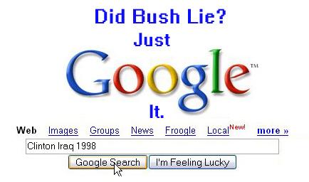 Just Google It: Clinton Iraq 1998