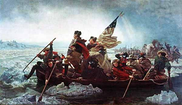 George Washington crossing the Delaware at the Battle of Trenton, by Emmanuel Leutze