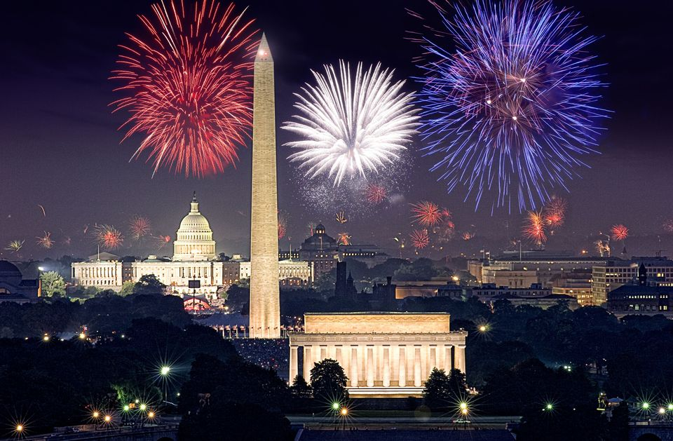 fireworks over Washington, D.C.